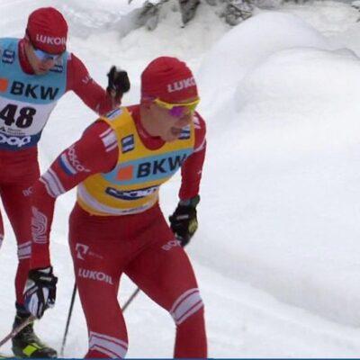 Российские лыжники заняли весь пьедестал в гонке на 15 километров свободным стилем на этапе Кубка мира в Давосе