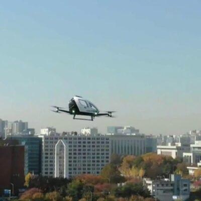 В Сеуле продемонстрировали летающее беспилотное такси
