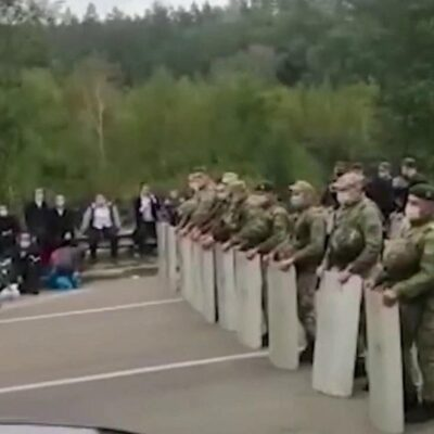 Украина пока не намерена впускать на свою территорию паломников-хасидов, прибывающих на границу со стороны Белоруссии