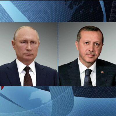 Владимир Путин провел телефонный разговор с президентом Турции Реджепом Тайипом Эрдоганом