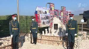 В Сирии увековечили память российских саперов, которые погибли при исполнении своего долга