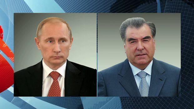 Владимир Путин провел телефонный разговор с президентом Таджикистана Эмомали Рахмоном