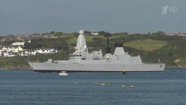 Российские военные выдворили британский эсминец, который нарушил государственную границу России