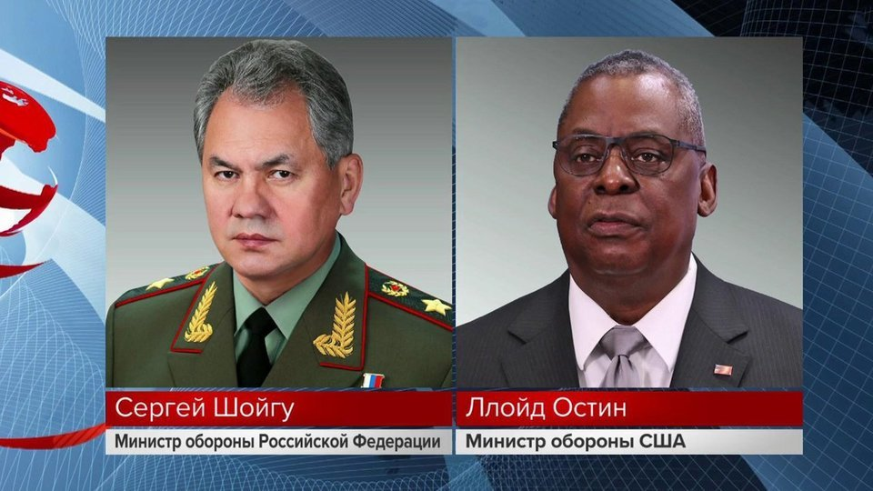 Министр обороны Сергей Шойгу провел телефонные переговоры с главой Пентагона