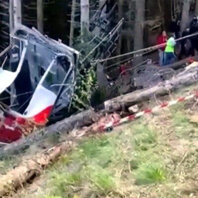 В Италии увеличилось число жертв крушения кабинки на канатной дороге