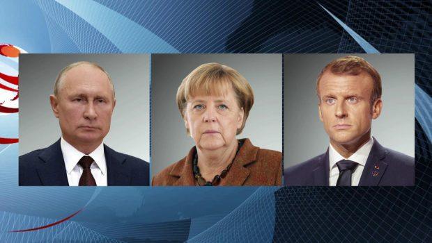 Кризис на Украине обсудили по телефону Владимир Путин, Ангела Меркель и Эммануэль Макрон
