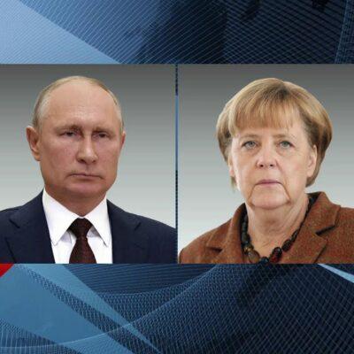 Владимир Путин поговорил по телефону с канцлером Германии Ангелой Меркель о Донбассе