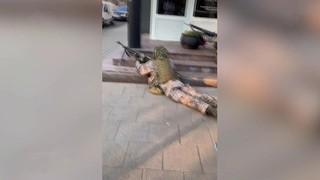 Военные учения в центре Риги напугали местных жителей