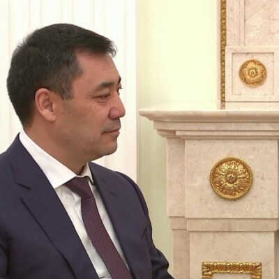 Владимир Путин встретился с президентом Киргизии Садыром Жапаровым