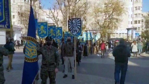 В Киеве в похоронах участника дивизии СС «Галичина» участвовал оркестр президентского полка