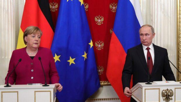 Афганистан, Украина, транзит газа: о чём говорили Владимир Путин и Ангела Меркель