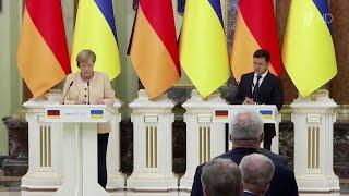 Донбасс и транзит газа стали темами встречи Ангелы Меркель с президентом Украины