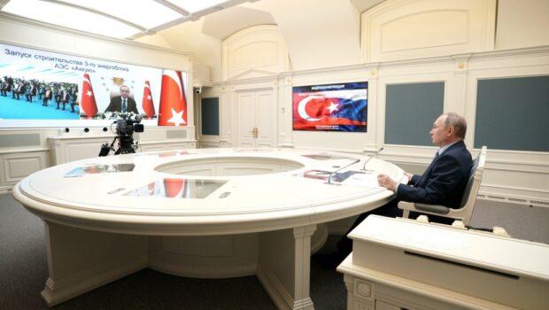 Президенты России и Турции дали старт началу строительства третьего блока АЭС «Аккую»