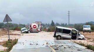 В Испании бурные потоки смыли целый муниципалитет в Таррагоне