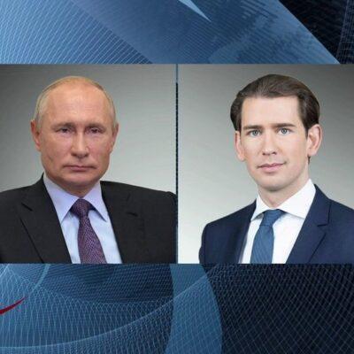 Возможность поставок в Австрию российской вакцины «Спутник V» обсудили Владимир Путин и Себастьян Курц