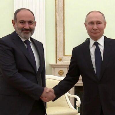 Владимир Путин и Никол Пашинян говорили о ситуации в Нагорном Карабахе и поставках «Спутника V»